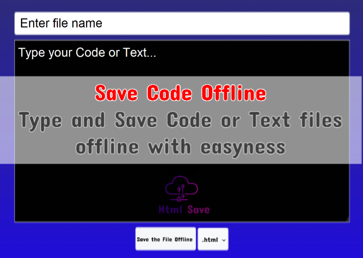Save Codes Offline